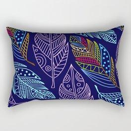 Beautiful Colorful Feather Pattern Rectangular Pillow