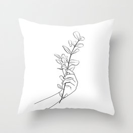Eucalyptus Branch Throw Pillow