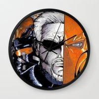 terminator Wall Clocks featuring Deathstroke the Terminator by artbyCurt.