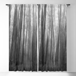 Creepy trees, black and white Blackout Curtain