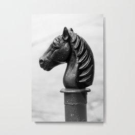 Vintage Horse Pole Metal Print