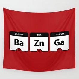 Bazinga Periodic Table Funny Quote Wall Tapestry