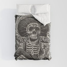Calavera Oaxaqueña - Día de los Muertos - Mexican Day of the Dead by Jose Guadalupe Posada Duvet Cover