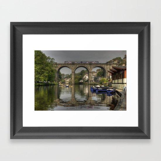 Knareborough viaduct  Framed Art Print