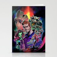 guardians of the galaxy Stationery Cards featuring Guardians of the Galaxy by Max Grecke