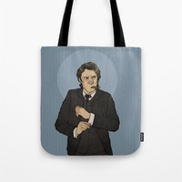 the godfather Tote Bags featuring godfather sam by Cesca Summers