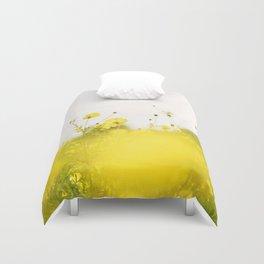 Yellow cosmos Duvet Cover