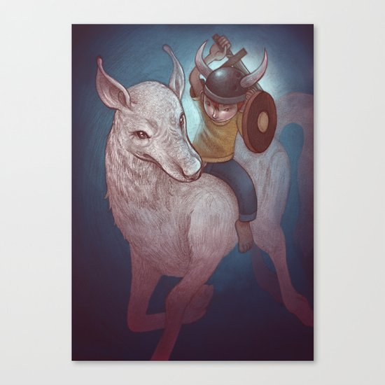 Boy and His Beast Canvas Print