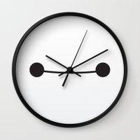 baymax Wall Clocks featuring Baymax by iamdrewbiewan