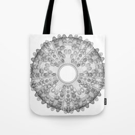 GEOMETRIC NATURE: SEA URCHIN w/b Tote Bag