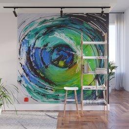 L'œil sur le futur, acrylique / Eye on the futur, Acrylic artwork Wall Mural