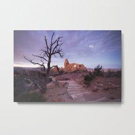 Arches National Park, Turret Arch, Sunrise Metal Print