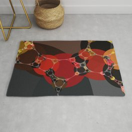 phoebe - dark red charcoal grey chestnut brown abstract design Rug