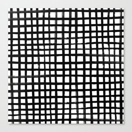 Hand-painted Grid Canvas Print