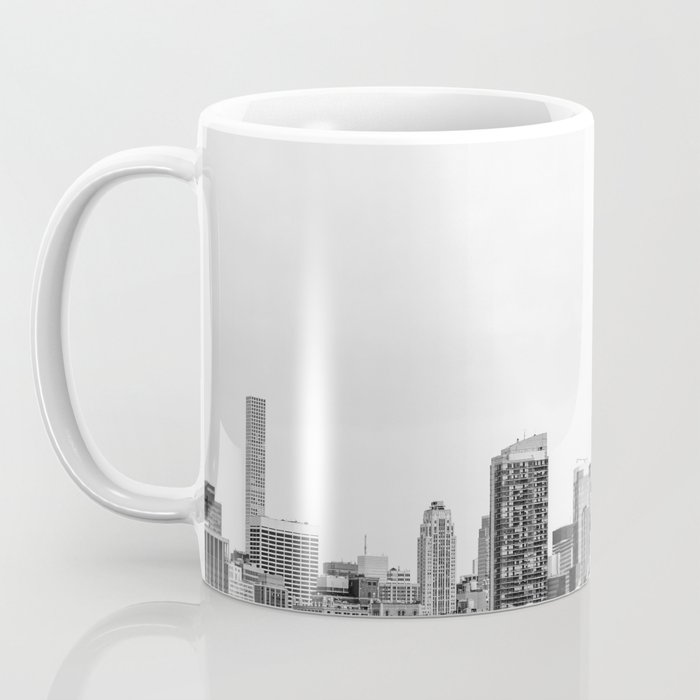 The New York Cityscape City (Black and White) Coffee Mug