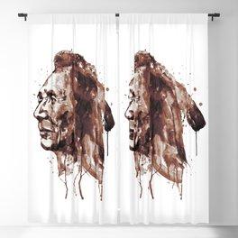 Indian Warrior Sepia Tones Blackout Curtain