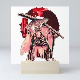 Japanese Yūrei Samurai Warrior Mini Art Print