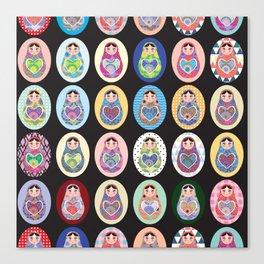 cute doll babushka matryoshka Canvas Print