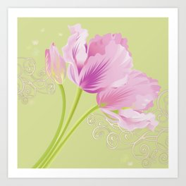 Pink Tulips (Spring mood) Art Print