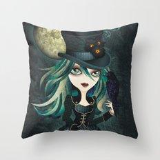 Raven's Moon Throw Pillow