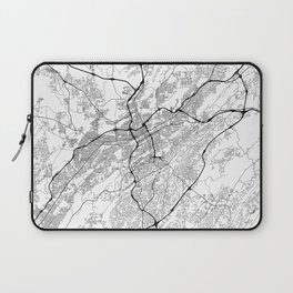 Minimal City Maps - Map Of Birmingham, Alabama, United States Laptop Sleeve