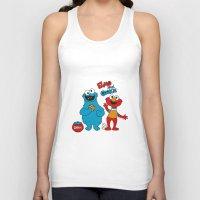 elmo Tank Tops featuring Elmo & Cookie Fan Art by gabriela