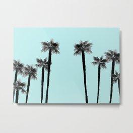 Minimal Black & White Palms #2 #tropical #decor #art #society6 Metal Print