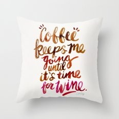 Coffee & Wine – Brown & Magenta Ombré Throw Pillow