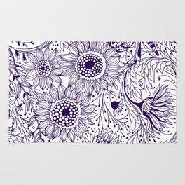 Floral doodles Rug