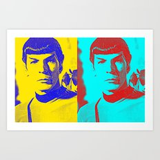 Science Officer Spock (Andy Warhol Remix) Art Print