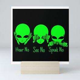 Hear No See No Mini Art Print