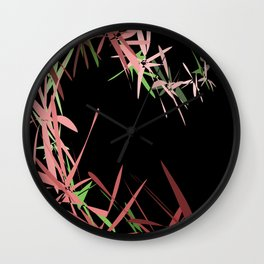 abstract in black background Wall Clock