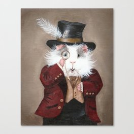 Simon Cranberry the Victorian Guinea Pig Canvas Print