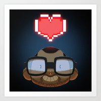 video games Art Prints featuring I love Video Games  by Shihab Aldeen