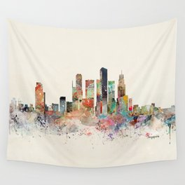 singapore skyline Wall Tapestry