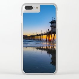 Wet Sand Sunset Clear iPhone Case