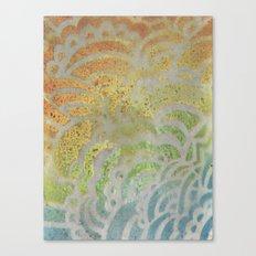 Drawing Meditation: Stencil 1 - Print 7 Canvas Print
