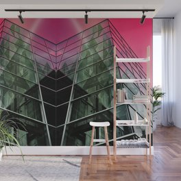 Pink Building Wall Mural