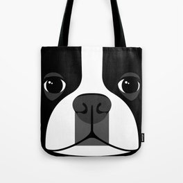 Boston Terrier Close Up Tote Bag