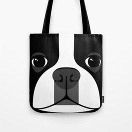 Boston Terrier Close Up Tote Bag