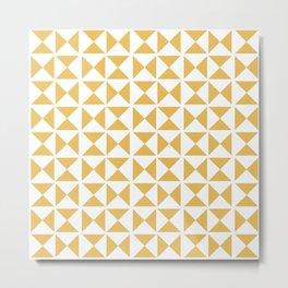 Mustard yellow Mid century Metal Print