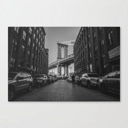 New York City Bridge (Black and White) Canvas Print