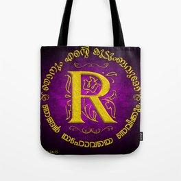 Joshua 24:15 - (Gold on Magenta) Monogram R Tote Bag