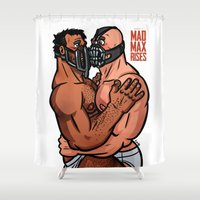 mad max Shower Curtains featuring Mad Max Rises by Randy Meeks