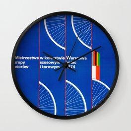 Vintage 1974 Polish Cycling  poster Wall Clock