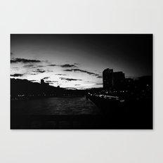 black city.  Canvas Print