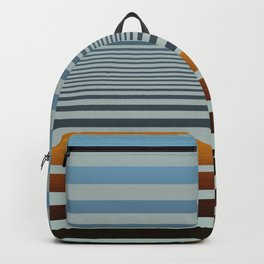 Masculine Grey Blue Wood Grain Gradient Stripes Backpack