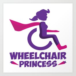 Funny Wheelchair Walking Disability Carer Gift Art Print