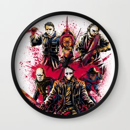 LEGENDS OF HORROR COLOR Wall Clock