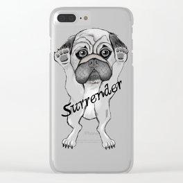 Surrender dog Clear iPhone Case